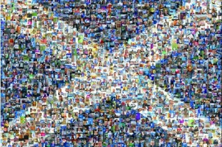 Selfie assured  . . . readers of the Sunday Herald make up the warp round montage for the only paper backing the 'Yes' vote for independence