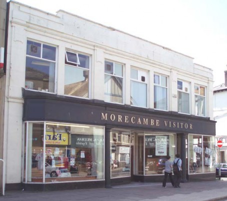The former newspaper office in Morecambe town centre.